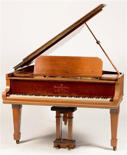 Lot 695-Steinway boudoir grand piano
