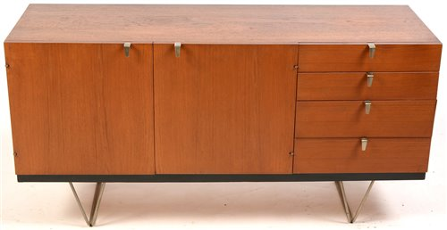 Lot 1104-John & Sylvia Reid for Stag: a Model S201 teak sideboard.