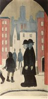 Lot 158-After Laurence Stephen Lowry - print.