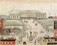 Lot 1189-After Laurence Stephen Lowry - limited print