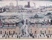 Lot 1185-After Laurence Stephen Lowry - limited print