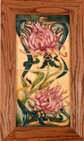Lot 1009 - A Moorcroft double tile panel.