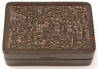 Lot 63 - A Chinese tortoiseshell snuff box and cover.