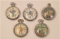 Lot 1538 - Five pocket watches