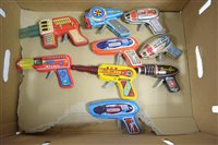 Lot 1547 - Tinplate friction guns