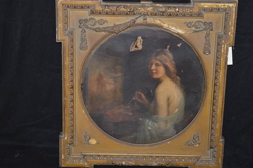Lot 172-19th Century European school oil painting
