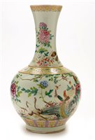 1 - Chinese bottle vase.