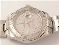 Lot 468-Rolex Yacht-Master gent's watch with box and papers.