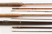 Lot 33-Octopus ESS two piece slit cane rod and two others