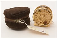 """Lot 134-Hardy's of Alnwick """"The Sovereign"""" trout fly fishing reel"""