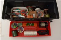 Lot 3-Fisherman's plastic tackle box