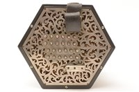 Lot 128-A Lachenal New Model English system concertina in a Wheatstone case