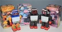 Lot 1020-Two Saturn TV Robots and a Jupiter Robot