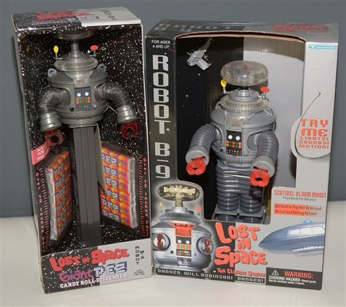 Lot 1071-Two Lost in Space robots