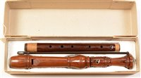 Lot 2-Dolmetsch Tenor Recorder Indian Rosewood