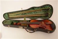 Lot 61 - A violin by J. Thibouville-Lamy