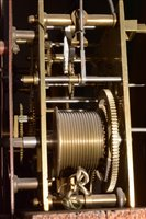 Lot 682-L. Lesh, Glasgow: a Victorian figured walnut longcase clock.