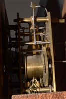 Lot 682 - L. Lesh, Glasgow: a Victorian figured walnut longcase clock.