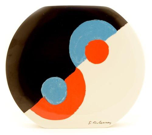 Lot 11-Sonia Delaunay vase.