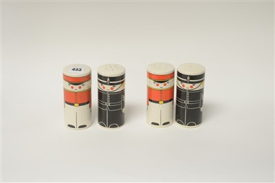 Lot 7-Two pairs of salt and pepper pots.