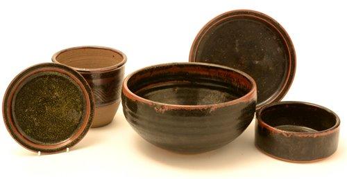 Lot 1-Five pieces of Studio Pottery.