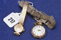 Lot 217-Gold watch and another watch