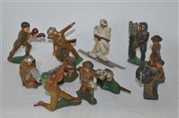 Lot 1502 - Hollow cast figures by Barclay or Manoil