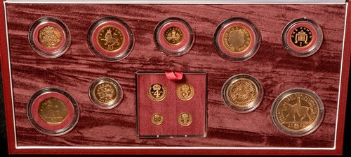 Lot 177-Golden Jubilee gold proof set