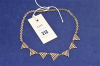 Lot 213-9ct necklace