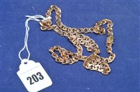 Lot 203-9ct gold necklace