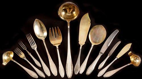 440 - German silver cutlery