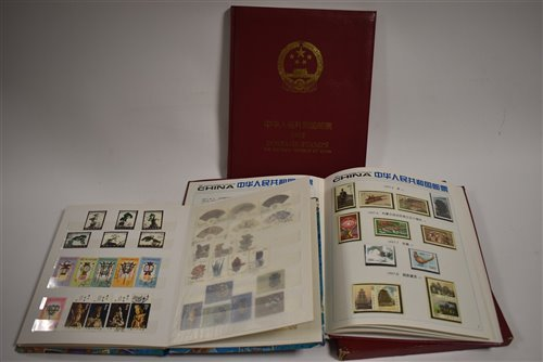 Lot 79-Three albums of Chinese stamps