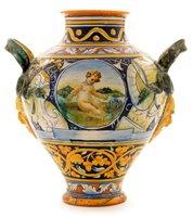 Lot 112-A Cantegalli double-handled vase.
