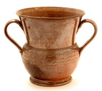 Lot 81 - A rare Nottingham brown saltglaze loving cup.
