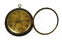 Lot 742 - Sedan clock with watch movement.