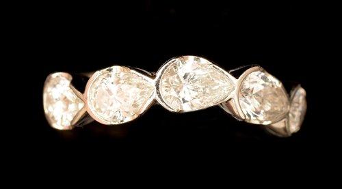 Lot 544-Half hoop diamond ring