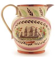 Lot 89 - Sunderland Pottery globular jug.