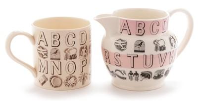Lot 1503-Eric Ravilious Wedgwood jug and mug