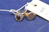 Lot 302-18ct signet ring and 9ct cluster ring