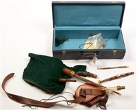 Lot 27 - Set of Northumbrian pipes