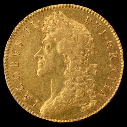 Lot 170-James II gold five guineas