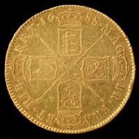 Lot 170 - James II gold five guineas