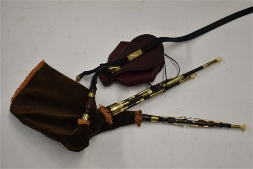 Lot 17 - D McQuade Northumbrian Small Pipes.