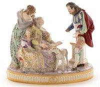 Lot 111 - A Samson porcelain group.