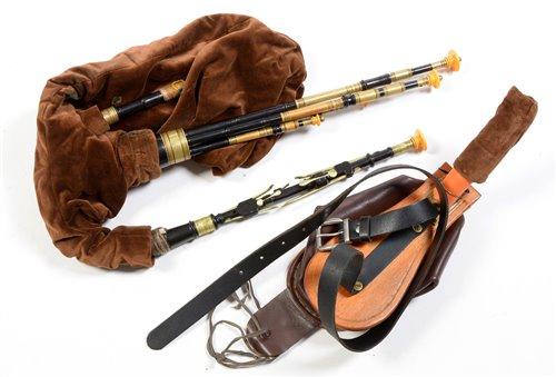 Lot 18 - David Burleigh Northumbrian pipes