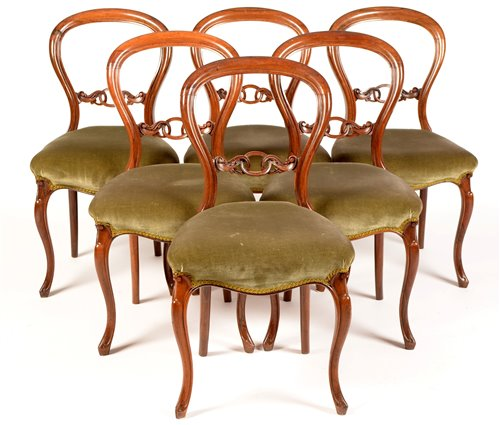 Lot 754 - Six rosewood chairs.