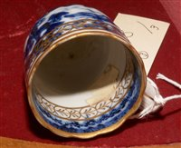 Lot 4-Chinese export blue and white teapot, coffee cup and bowl