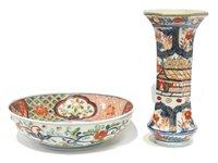 Lot 46 - Japanese Imari bowl; and a vase.