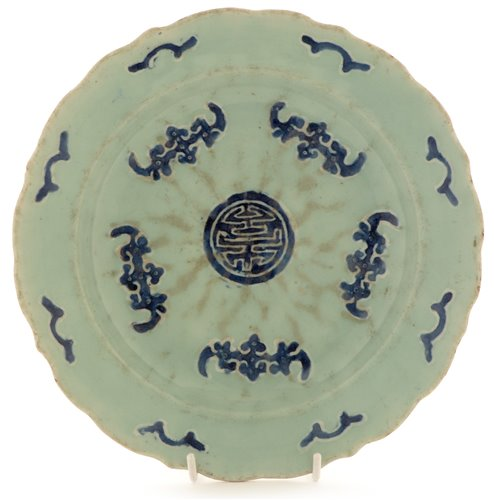 Lot 8-Chinese porcelain plate.