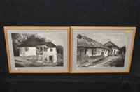 Lot 539-Valentin Bolam watercolours